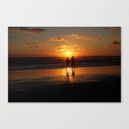 Watching The Burning Waves Canvas Print