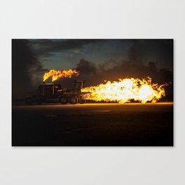 Shockwave Jet Truck Canvas Print
