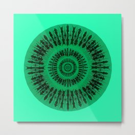 Swim green Metal Print
