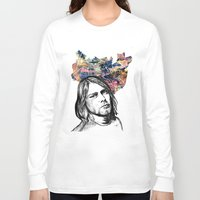 kurt rahn Long Sleeve T-shirts featuring Kurt by GabriielleViictoriia