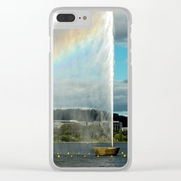 The Captain James Cook Memorial Fountain, Lake Burley Griffin, Canberra Clear iPhone Case