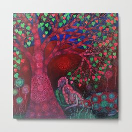 Valentine Tree Metal Print