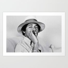Young Barack Obama Smoking Weed Art Print
