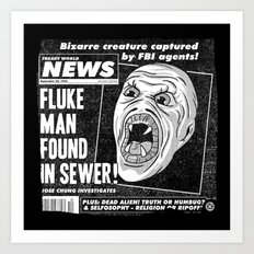 Freaky World News Art Print