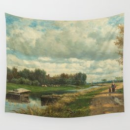 Landscape in the Environs of The Hague - Willem Roelofs (I) (1870-1875) Wall Tapestry
