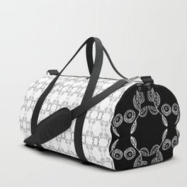 Hand drawn Seed Pods Pattern Duffle Bag