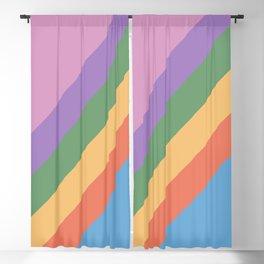 Retro Rainbow Stripes 105 Blackout Curtain