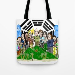 The Oceanic 815 survivors and the Others always had their issues...  LOST Tote Bag