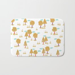Butterfly Garden - Trees Bath Mat