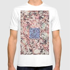 Inner Molecules MEDIUM White Mens Fitted Tee