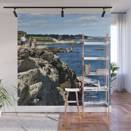 Cliff Diving - Newport, Rhode Island by Jeanpaul Ferro Wall Mural