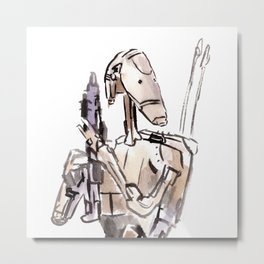 Battle Droid Metal Print