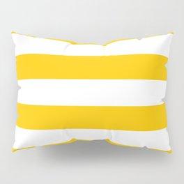 Aspen Gold Yellow and White Wide Horizontal Cabana Tent Stripe Pillow Sham