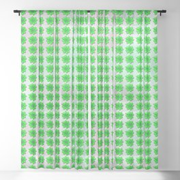 Four leaf clover pattern on texture Sheer Curtain