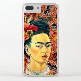 FRIDA bUTTERFLYS Clear iPhone Case