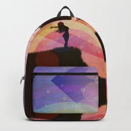 Freedom and rainbow Backpack