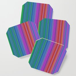 Abstract rainbow dots and lines Coaster
