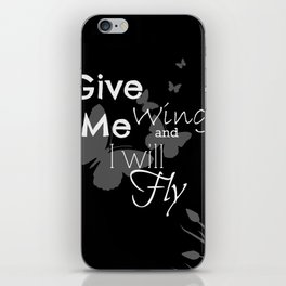 Black Wings iPhone Skin