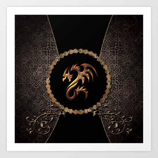 Awesome dragon Art Print