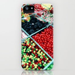 Colourful bulk candy display iPhone Case