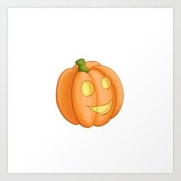 Friendly pumpkin Art Print