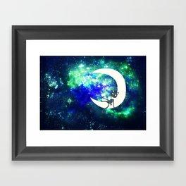 I Sat On the Moon Framed Art Print