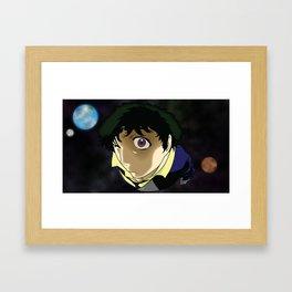 Cowboy Bebop - Spike in Space Framed Art Print