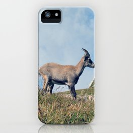 Ibex while hiking iPhone Case