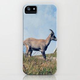 Ibex while hiking iPhone Case