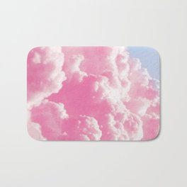 Retro cotton candy clouds Bath Mat