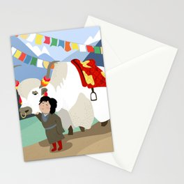 A child and his best friend Stationery Cards