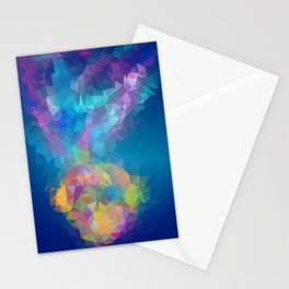 Triangles art low poly fish Stationery Cards