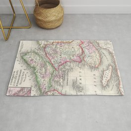 Vintage Nova Scotia and New Brunswick Map (1866) Rug