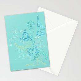 Turquoise Yoga Stationery Cards