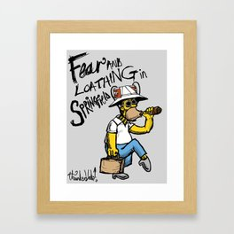 Fear and Loathing in Springfield Framed Art Print