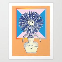 flower vase Art Print