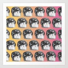 Minifigure Pattern - Hot Art Print