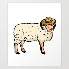 Farmer Peasant Grower Gift Farm Funny countrymen Art Print