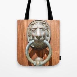 Lion door knocker Tote Bag