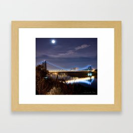 GWB with Moon (Color) Framed Art Print