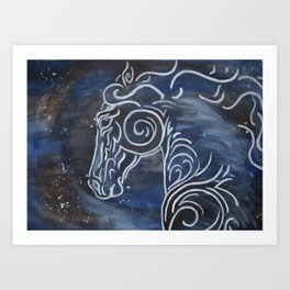 Horse and Stardust Art Print
