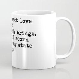 Sonnet 29 - Love Sonnet on white Coffee Mug
