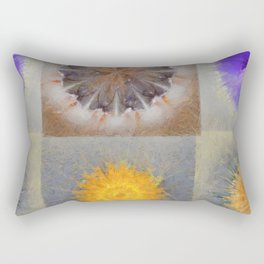 Sarcophagi Woof Flowers  ID:16165-112239-34720 Rectangular Pillow