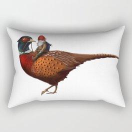 Winter Gnome on Pheasant Rectangular Pillow