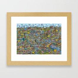 Illustrated map of Berlin Framed Art Print