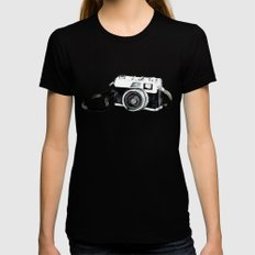 Vintage camera Black Womens Fitted Tee SMALL