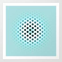 polka dot Art Prints featuring Polka dot by PiliArt