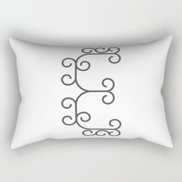 "Letter ""E"" in beautiful design Fashion Modern Style Rectangular Pillow"
