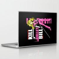 kill bill Laptop & iPad Skins featuring Kill Bullet Bill (Black/Magenta Variant) by Shana-Lee