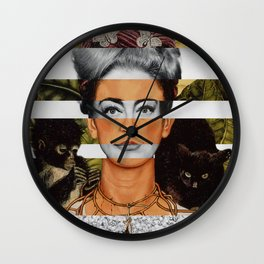 "Frida Kahlo ""Self Portrait with Thorn Necklace and Hummingbird"" & Joan Crawford Wall Clock"